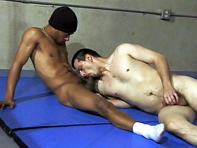 jovial Interracial Cock Gagging